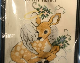 "Halo Smiles""counted cross stitch *janlynn"