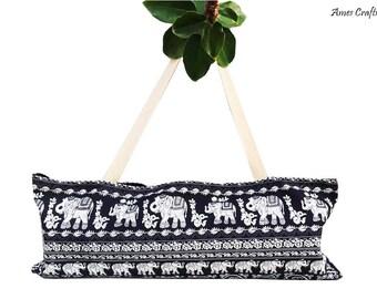Handmade Royal Blue Elephant Canvas Yoga Mat Tote,Pilates Bag Yoga Mat Bag