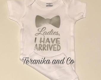 Ladies I have arrived, Baby shower gift, I have arrived bodysuit