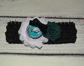 Philadelphia Eagles Baby Headband Baby Headband Football Baby Headband Newborn Headband Philadelphia Eagles Girls Headband
