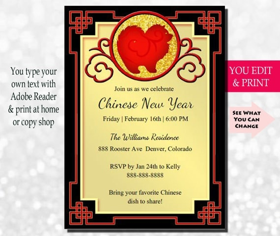 Chinese new year invitation chinese new year party invitation year il570xn stopboris Gallery
