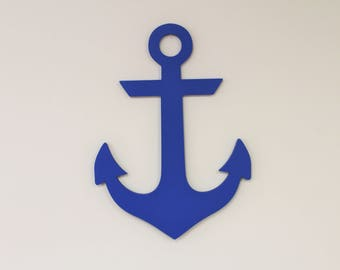 Wooden Anchor, Anchor Cut Out, Painted Anchor, Unpainted Anchor, Wall Art, Wall Decor, Home Decor, Wooden Anchor Cut Out, Anchor, Wood Shape