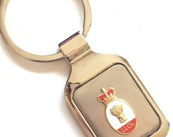 Personalised Orange Lodge Order LLOL Wheat Sheaf Crested Key Ring + Pouch (K077)