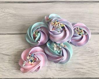 Meringue Cookies- Color Swirl with Sprinkles!