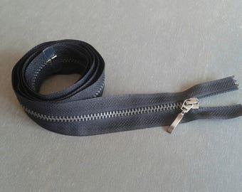 Zipper closure 98 cm black separable metal