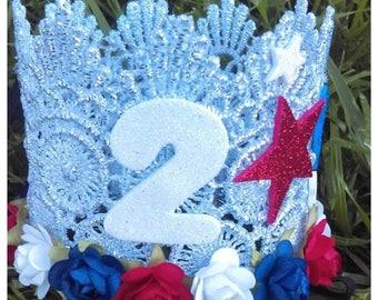 4th of July Princess Crown