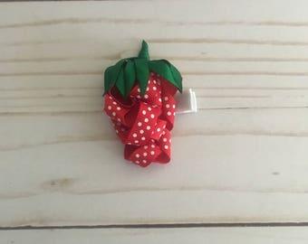 Strawberry Hair Clip Hair Bow