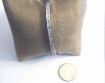Vintage Sterling Silver Cubic Zirconia Bangle Bracelet
