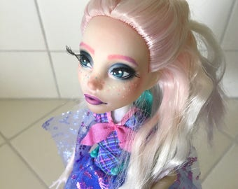 Special discount price RESERVED/ Monster high repaint: rainbow ombre girl