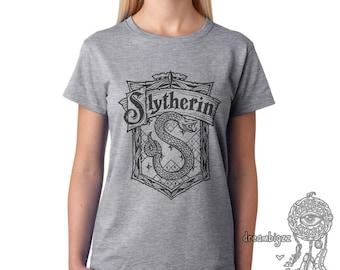 Slyth Crest #2 Black ink on Women tee T-shirt