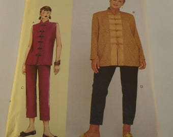 Vogue Pattern 7263 Misses' Top and Pants Size: G-H-I-J Today's Fit by Sandra Betzina Bust Size 46-49-52-55