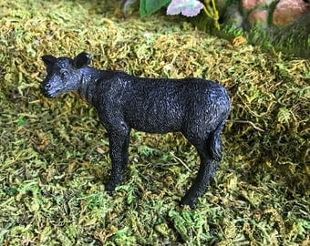 Miniature Black Cow