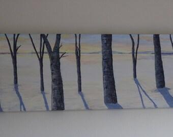 Woodland Sunset Acrylic landscape painting