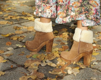 Bohemian boots in suede leather cosmoparis