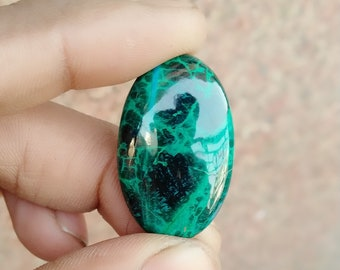 Warm sell 37.5ct Chrysocolla Natural Gemstone Super Quality AAA+++  Cabochon , Smooth, Oval Shape, 30x19x6mm Size, AM261
