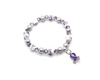 Epilepsy Awareness - Epilepsy Awareness Bracelet - Epilepsy Jewelry - Epilepsy Warrior - Epilepsy Bracelet - Epilepsy Gift - Epilepsy