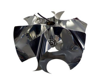 1970's chrome suspension - 1970's chrome chandelier
