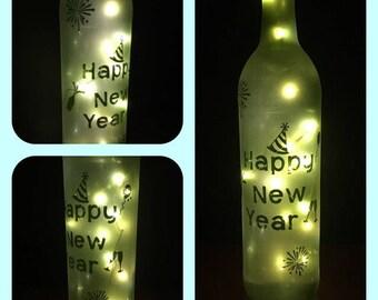 LED cork lighted wine bottle centerpiece Christmas/New Years