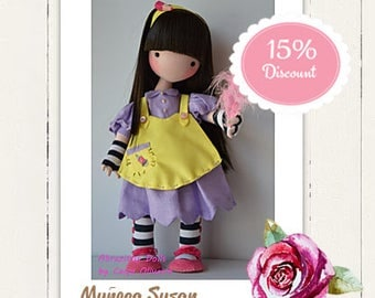Doll Susan, fabric, dolls, inspired by the Gorjuss doll