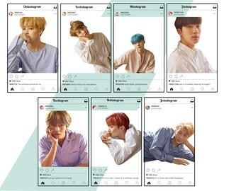 Bangtagram Transparent Photocards // DNA BTS Transparent Photocards // Nerdywolves