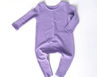 LILAC Romper- Short or Long Sleeve | Short sleeve romper, harem romper, baby onesie, solid romper