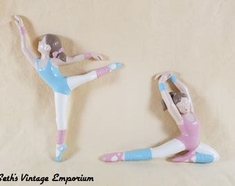 Ballerinas Plaques ~ Burwood ~ Homeco ~ Nursery Wall Decor ~ Plastic Resin ~ Vintage Shabby Home ~ Child's Room ~ Seths Vintage Emporium