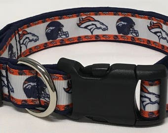 dog collar, Denver Broncos, nfl, nfl dog collar, nfl collar, broncos, Denver broncos dog collar, Denver broncos collar, broncos collar