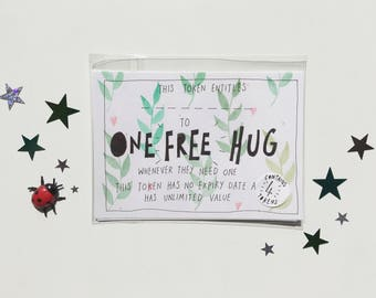 One Free Hug Set of 4 A6 Tokens