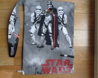 Muddy Boot Poppins Waterproof Lined Zip Pouch  Boot Bag  Welly Bag  Wellington Bag - Travel  Luggage - Wet Weather - PE - Star Wars Fabric