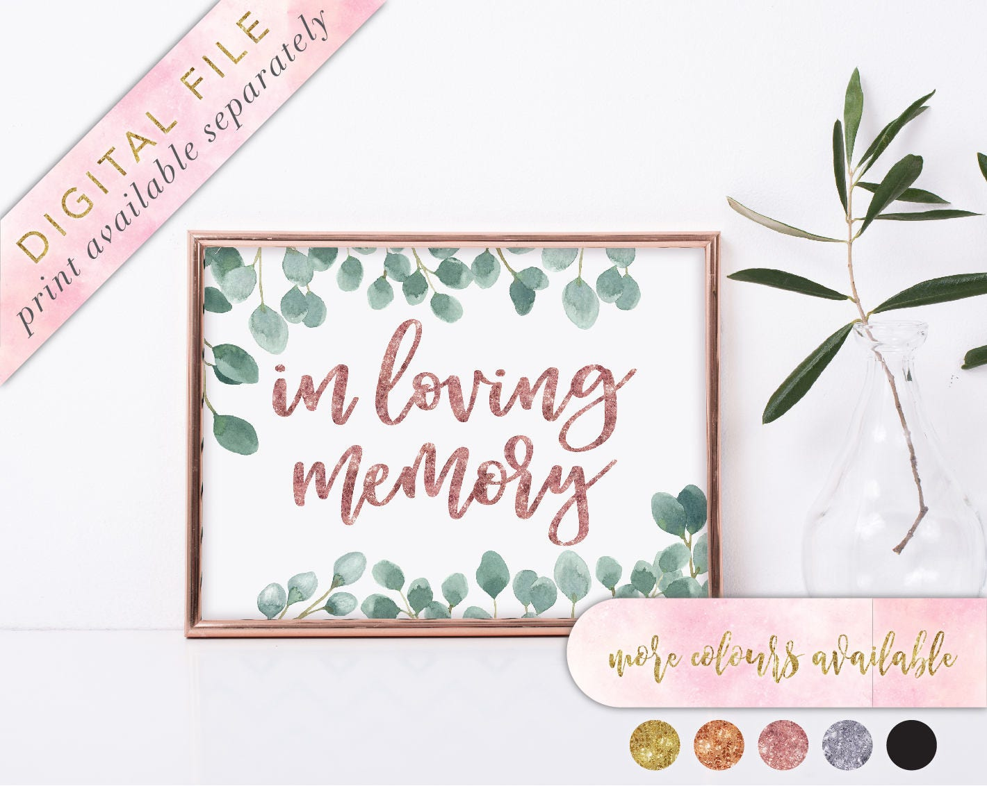 in loving memory sign printable wedding memorial sign memorial