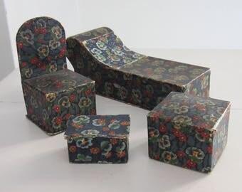 Vintage Candy Box Dollhouse Furniture