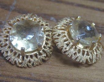 Gold Colored Clip On Earrings