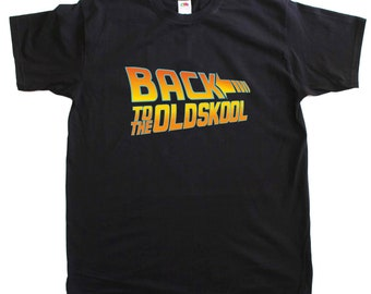 Back to the Old Skool New Men Size Retro Cotton T Shirt