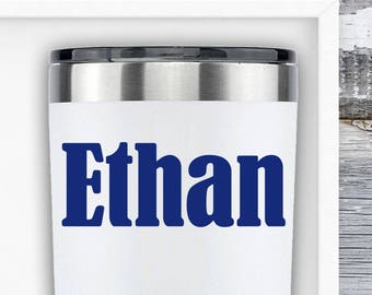 Yeti Name Decal - Name Decals for Cups - Custom Name Decal - Yeti Colster Decal - MacBook Decal - Personalized Laptop Decal - RTIC Name