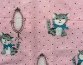 1950s Novelty Print Fabric with Kittens