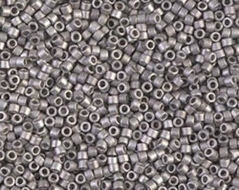 Delica 11/0 Miyuki Bead Matte Palladium Plated Cylinder Beads Jewelry Making Supplies Craft Beading Supply - DB0338 - 5grams