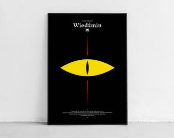 Wiedźmin, The Witcher. Wall art. Original poster. High quality giclée print. signed by designer.