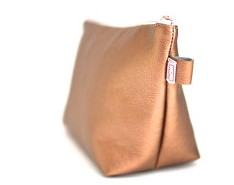 Copper, copper Makeup bags cosmetic bag