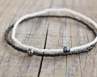ultra slim yin/yang couples bracelets long distance relationship bracelets you complete me distance bracelets