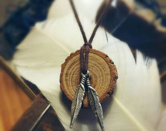 Handmade, rustic, Osage Orange & Chinaberry dreamcatcher pendants - ethically sourced.