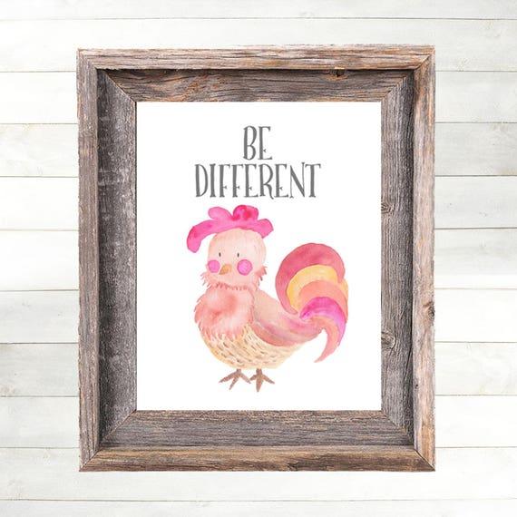 Rooster Nursery Art Print, Rooster Nursery Decor  Farm Animal Nursery Art, Farm Nursery Print,  Country Nursery Art, Farm Theme Art Print