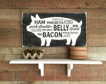 Farmhouse Sign,Farmhouse Kitchen Decor,Farmhouse Style Kitchen,Kitchen Signs,Pig  Home