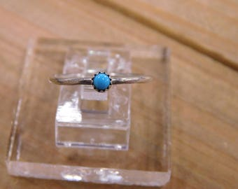 Simple Sterling Silver Turquoise Ring