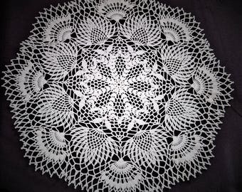large white doily