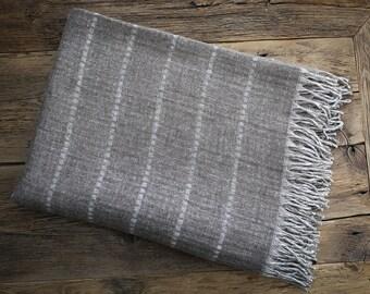 Wool blanket - Natural Throw Blanket - Warm Wool Throw - Merino Wool Gift, Blanket Wool, gift, Christmas