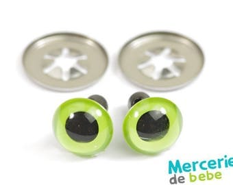 Set of 2 eyes for plush - 10 mm - Green