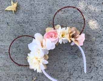 ready to ship* floral wire ears