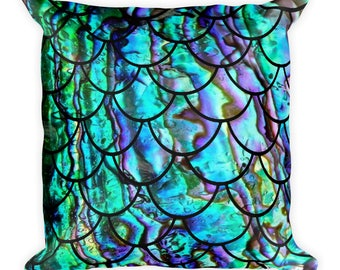 Mermaid Scale Square Pillow