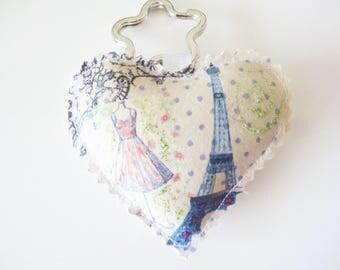 Jewelry bag, key heart
