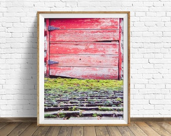 "farmhouse art prints, instant download art, printable wall art, instant download, printable art, large art, wall art prints -""The Red Door"""